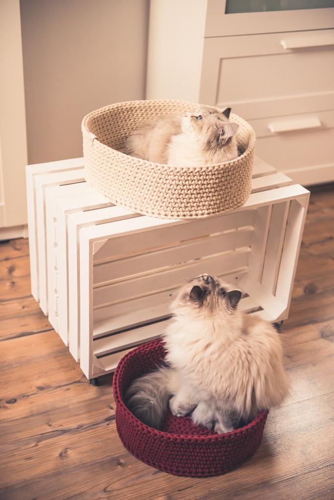 Kocie legowisko ze sznura